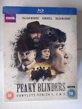 Peaky Blinders - Complete Season Series 1, 2 & 3.  BluRay.  NEW & Sealed WF3