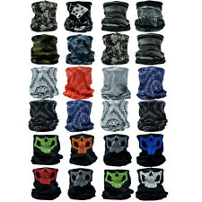 3-12Pcs Tube Scarf Neck Gaiter Bandana Head Face Mask Multi-use For Outdoor Cap