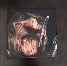 "Freddy Krueger Nightmare On Elm St 18"" X 18 POP ART PAINTING CARGILL"