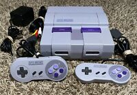 Super Nintendo SNES System Console Authentic Tested & Clean!! Great Color!