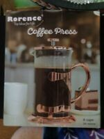 8 Cup French Press Coffee Maker Plunger  RORENCE