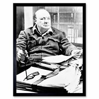 SIR WINSTON CHURCHILL GLOSSY POSTER PICTURE PHOTO PRINT prime minister uk 3937