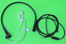 FBI Style Earphone Throat Mic Noise Reduce Headset For Apple iPhone 3.5mm BLACK