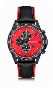 Audi Chronograph rot/schwarz,Audi Uhr,Audi Armbanduhr für Herren,Audi Sport Uhr