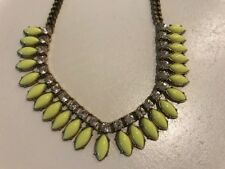 """J. Crew Yellow and Rhinestone 18"""" Necklace with 2"""" extender - EUC!"""