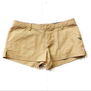 O'Neill Women's Khaki Chino Flat Front Shorts Size 1