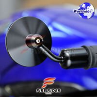 CNC Anodized Black Handle Bar End Mirrors For Ducati 13-17mm In. Φ Handlebar