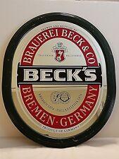 "Beck's Beer Mirror Advertising Sign 23"" x 19"""