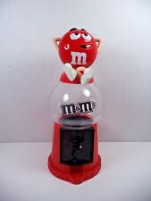 Collectable Vintage  M&M Red Relax Gumball Style Coin Candy Dispenser Machine