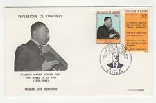 République du Dahomey 2 timbres sur lettre FDC 1968 tampon Cotonou /FDCa131