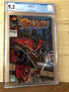 Spawn #5 (Oct 1992, Image) CGC 9.6 Death Billy Kincaid Todd McFarlane story art