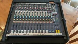 Soundcraft EPM12 channel mixer and Behringer Ultragraph Pro 3102