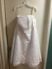 NWT White Lace Strapless Tea Length wedding dress sz 18