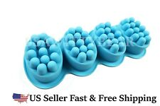 Massage Bar Silicone Molds 4 Cavities 4oz Soap Mold Ship From USA ~ US Seller