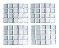 80 PCS OF TOP GLASS PLASTIC GEMSTONE JEWELRY DISPLAY JAR BOX WHITE Size 4x4 cm
