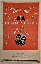 1974 Double Play Ferrante & Teicher Concert Poster Board Promo Advertisement