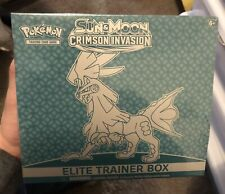 Pokemon Sun and Moon CRIMSON INVASION Elite Trainer Box ETB New Factory Sealed