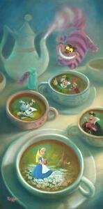 Disney Fine Art LE Canvas Imagination Is Brewing-Alice In Wonderland-Kaz