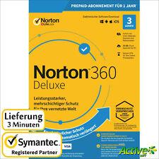 NORTON 360 Deluxe 2020 3 Geräte |PC,Mac,Android,iOS| Internet Security DE-Lizenz