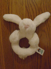 Little jelly cat cream bunny rabbit fluffy rattle for baby
