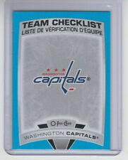 16//17 lista de verificación de equipo OPC Washington capitales Retro Tarjeta #644