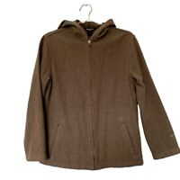 Woolrich womens Hooded Jacket. Size S. Lightweight Wool Jacket For Spring.