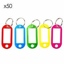 Trixes Confezione da 50 Portachiavi/targhette per chiavi in codice colore con
