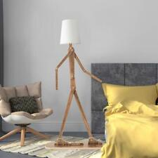 Posable Person Floor Lamp Unique Modern Wood Light Minimalist Fun Lighting GIFT