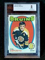 1971 Topps Hockey #20 Phil Esposito BVG 8