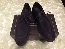 ERMENEGILDO ZEGNA SHOES $690 BLUE SUEDE  SIZE 11 MADE IN ITALY