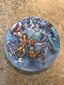 Budweiser Limited Edition 1992 Winter Olympics Collector Plate. RARE. NO RESERVE