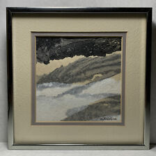 """Maxine Masterfield Original Abstract Watercolor Painting Listed """"SHALLOW SHORE"""""""