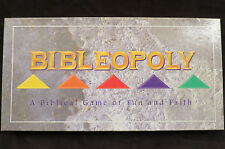 Bibleopoly Board Game of Fun & Faith Cards Rules Complete set Bible Monopoly