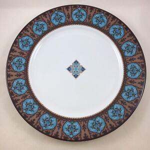 "Vera Bradley My Home Java Blue 10.75"" Dinner Plate Andrea by Sadek Aqua Mandala"