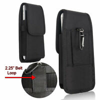 """For Samsung Galaxy S20 Plus (6.7"""") Slim Rugged Nylon Pouch Belt Loops Holster"""