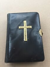 1899   LEATHER GERMAN PRAYER BOOK  BRASS CLASP BIBLE BINDING