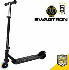 Swagtron Metro SK3 Kid Electric Kick-Start Scooter w/ Wheels & Kick-Start Boost