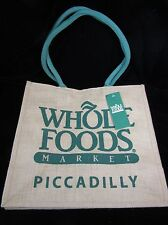 Whole Foods London Piccadilly Tote Bag Jute England UK Burlap Recycle Shop New