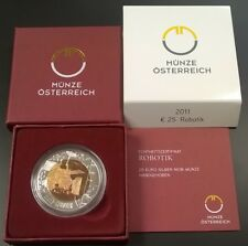 Österreich Austria 25 Euro Niob Silber Robotik 2011  -------- Eiamaya