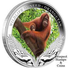 2011 Wildlife in Need - Orangutan 1oz Silver Proof Dollar Tuvalu Coin