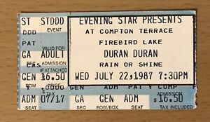 1987 DURAN DURAN PHOENIX CONCERT TICKET STUB RIO REFLEX STRANGE BEHAVIOUR TOUR