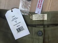 TOAST olive khaki cotton green trousers 10 S, brand new