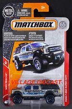 2018 Matchbox #54 Ford F-350 Super Duty SILVER METALLIC/POLICE/MOC