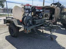 Hot Water Pressure Washer System And Generator Trailer Mounted M1102 Trailer
