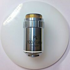 100X Obiettivo polarizzatore, Infinity corretta 1.25NA olio, filettatura RMS-GTVE 1005