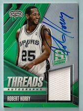 ROBERT HORRY 2013/14 PANINI SPECTRA THREADS GAME WORN JERSEY AUTOGRAPH AUTO /125