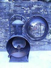 ANCIENNE LANTERNE ALBERT PARIS BUTIN LOCOMOTIVE TRAIN LAMPE PETROLE OIL LAMP