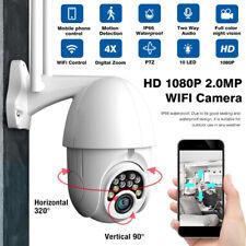 4X Zoom 1080P WIFI PTZ IP Camera Wireless Outdoor HD Security IR Cam Waterproof