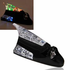 Car Wind Power Shark Fin Antenna Aerial LED Light Warning Flash Lamp Decoration