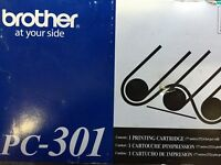 Brother PC-301 PC301 Printing Toner Fax Cartridge 750 770 775 775Si Genuine OEM
